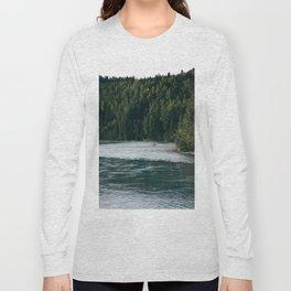 Lone Fisherman Long Sleeve T-shirt
