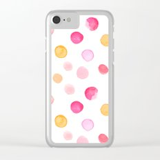 Pastel ink drops Clear iPhone Case