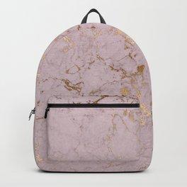 Chic mauve pink gold elegant stylish marble Backpack