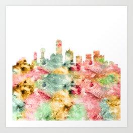 Dallas City Skyline Texas Art Print