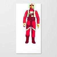 pilot Canvas Prints featuring pilot by BzPortraits