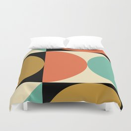 Mid Century Modern Geometric Abstract 235 Duvet Cover