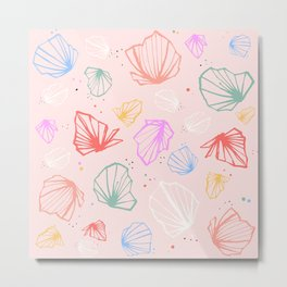 Happy colorfull chalices confetti Metal Print