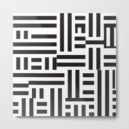 Modern Stripes Print Metal Print