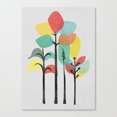 Tropical Groove (gray) Canvas Print