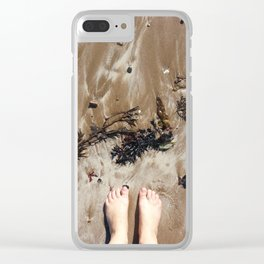 Sandy Toe Love Clear iPhone Case