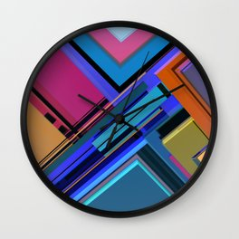 Abstract Composition 611 Wall Clock
