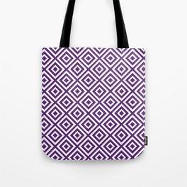 Purple Diamond Gometric Pattern Tote Bag