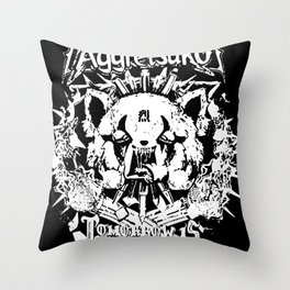 Red Panda Death Metal cutie Aggretsuko Throw Pillow