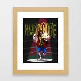 Mick Foley - Hardcore Framed Art Print