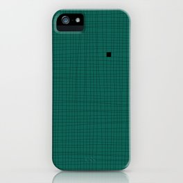 Green and Black Grid - Something's missing iPhone Case