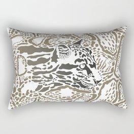 Leopard Clouded background Rectangular Pillow
