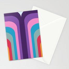 Retro Rainbow 02 Stationery Cards