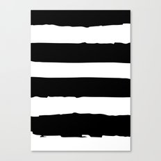 Black & White Paint Stripes Canvas Print