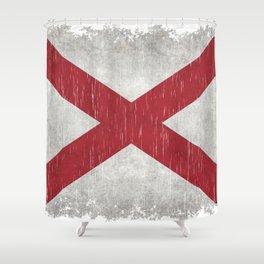State flag of Alabama - Vintage version Shower Curtain