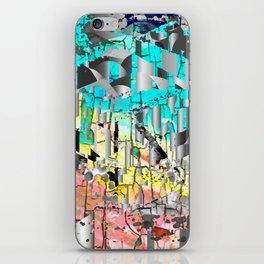 wood and metal iPhone Skin