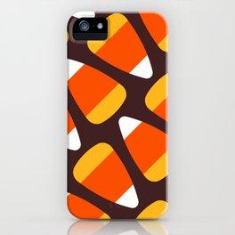 Candy Corn pattern iPhone Case