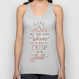 Crisp in the Fall - The Great Gatsby quote Unisex Tank Top