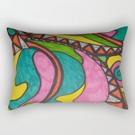 WONDERLAND'S LEAVES Rectangular Pillow