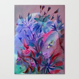 Fairy Bunny in Hiding Canvas Print