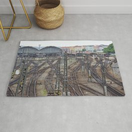 Prague Train Station Rug