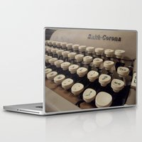 writer Laptop & iPad Skins featuring Type Writer by Chelsea Gibson