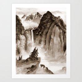 Blackrock Falls Art Print