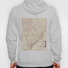 Vintage Map of South Carolina (1779) Hoody
