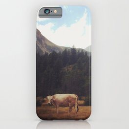 Lonely cow iPhone Case