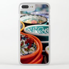 Santorini Bowls Clear iPhone Case