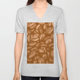 roasted coffee beans texture acrcb Unisex V-Neck