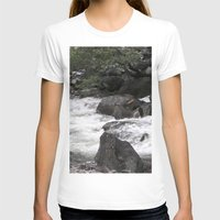 yosemite T-shirts featuring Yosemite Rapids by Angela McCall