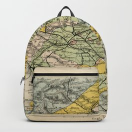 Scotch Coal Fields Vintage Map Backpack