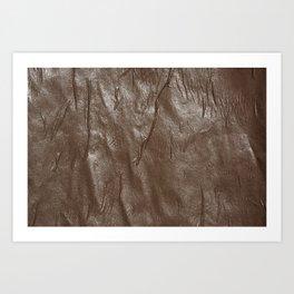 brown paper wrinkles Art Print