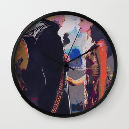 Johnny and June Wall Clock