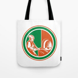 Baker Peel Bread Pan Circle Retro Tote Bag