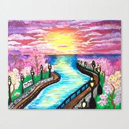 River Side Park Canvas Print