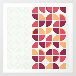 Retropolis Coral Art Print
