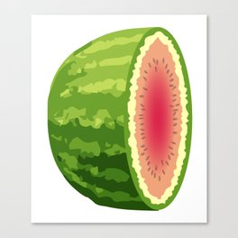 Water Melon Cut In Half Canvas Print