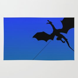 Magical Dragon Dragon (blue green) Rug