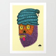 Snake Turban Steve the Zombie Art Print