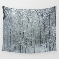 maine Wall Tapestries featuring Maine Winter by mainebug
