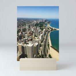 A City & A Shoreline Mini Art Print
