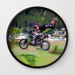 FMX Motocross Freestyle Stunt Rider Wall Clock