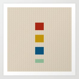 four elements || tweed & primary colors Art Print