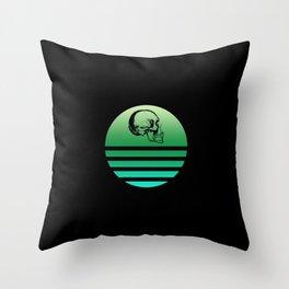 Retro Skull 7 Throw Pillow