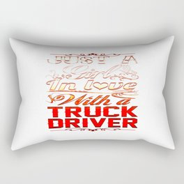 In love with a Truckdriver Rectangular Pillow