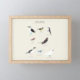 Dirty Birds Framed Mini Art Print