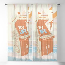 MY LIFE Sheer Curtain