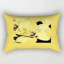 Bright Yellow Floral Design Rectangular Pillow